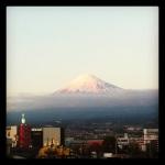 Vista del Fuji desde Yoshiwara